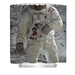 Shower Curtain featuring the photograph Apollo 11 by Celestial Images