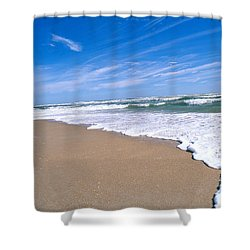 Apollo Beach Shower Curtain by Millard H. Sharp