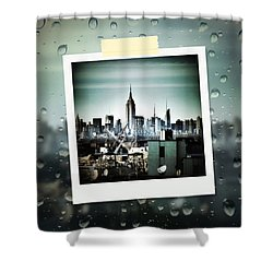 April In Nyc Shower Curtain