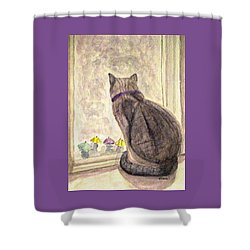 April Showers Shower Curtain by Angela Davies