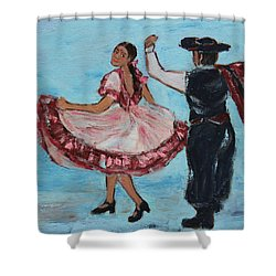 Argentinian Folk Dance Shower Curtain