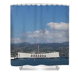 Arizona Memorial  Shower Curtain by Kenneth Cole