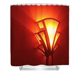 Shower Curtain featuring the photograph Art Deco Theater Light by David Lee Guss