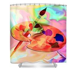 Artist Palette Shower Curtain