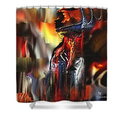 Astral  Shower Curtain by Francoise Dugourd-Caput