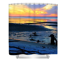 At A Days End Shower Curtain