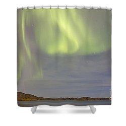 Aurora Borealis With Big Dipper Shower Curtain by Joseph Bradley