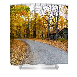 Autumn And The Old House Shower Curtain