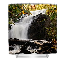 Autumn At Cattyman Falls Shower Curtain