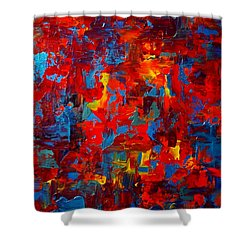 Autumn At Night Triptych Shower Curtain