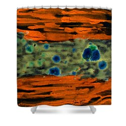 Shower Curtain featuring the painting Autumn Breeze by Joan Reese