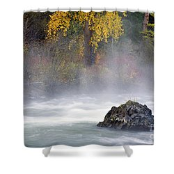 Autumn Mist Shower Curtain by Mike  Dawson