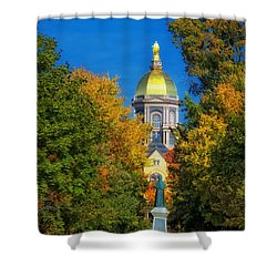 Autumn On The Campus Of Notre Dame Shower Curtain