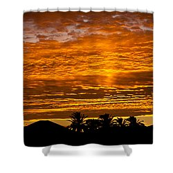 Shower Curtain featuring the photograph 1 Awsome Sunset by Brian Williamson