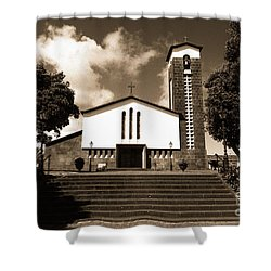 Azorean Church Shower Curtain by Gaspar Avila