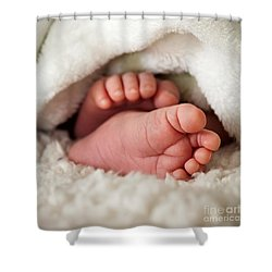 Baby Toes Shower Curtain by Kati Molin