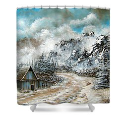 Back Home Shower Curtain by Patrice Torrillo