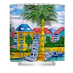 Bahamian Blues Shower Curtain