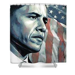 Barack Obama Artwork 2 Shower Curtain by Sheraz A
