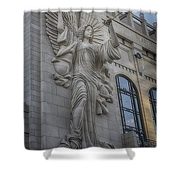 Bass Hall Angel Shower Curtain by Joan Carroll