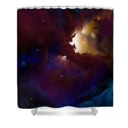 Bat Nebula Shower Curtain