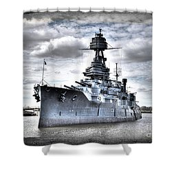 Battleship Texas Shower Curtain by Savannah Gibbs