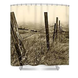 Bay Hill Road Shower Curtain