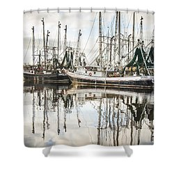 Bayou Labatre' Al Shrimp Boat Reflections Shower Curtain
