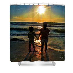Beach Kids Shower Curtain