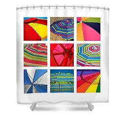 Beach Umbrellas Shower Curtain by Art Block Collections