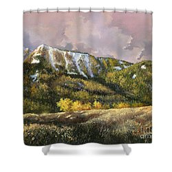 Shower Curtain featuring the painting Bear Claw by Lynne Wright