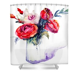 Beautiful Roses Flowers Shower Curtain