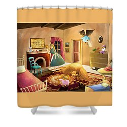 Bedtime With Polly Shower Curtain by Reynold Jay