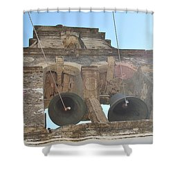 Shower Curtain featuring the photograph Bell Tower 1584 by George Katechis
