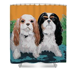 Two Dogs #1 Shower Curtain