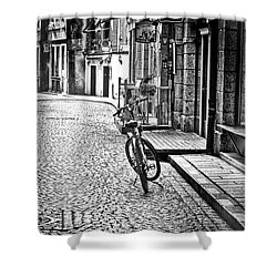 Bicycle And Sparrow 2  Shower Curtain