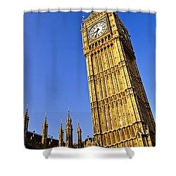 Big Ben Clock Tower Shower Curtain by Elena Elisseeva