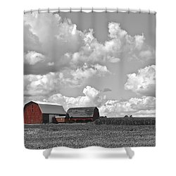 Big Sky Shower Curtain by Frozen in Time Fine Art Photography