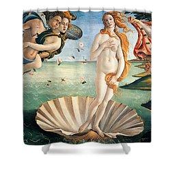 Birth Of Venus Shower Curtain by Sandro Botticelli