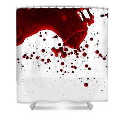 Blood Spatter Series Shower Curtain