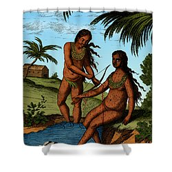 Bloodletting Native Central American Shower Curtain by Science Source