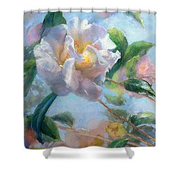 Blooming Flowers Shower Curtain by Nancy Stutes
