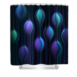 Blue Chandeliers Shower Curtain