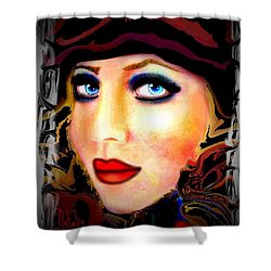 Blue Eyes Shower Curtain by Natalie Holland
