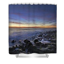 Blue Lagoon Shower Curtain by Debra and Dave Vanderlaan