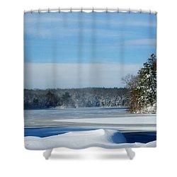 Blue Lake Shower Curtain