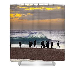 Blue Marlin Shower Curtain by Sean Davey