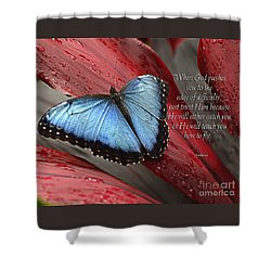 Blue Morpho 2 Shower Curtain