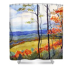Blue Ridge Mountains Of West Virginia Shower Curtain