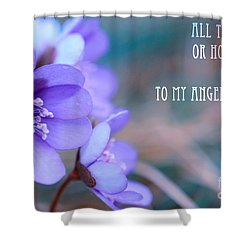 Blue Springtime Flowers Mother's Day Shower Curtain